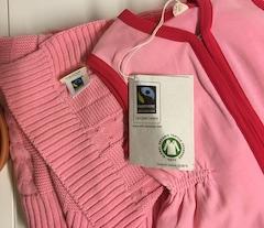 deken roze en slaapzak
