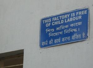 geen kinderarbeid
